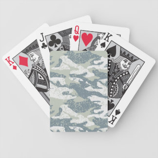 Snow disruptive camouflage bicycle playing cards