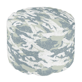 Snow disruptive camouflage pouf
