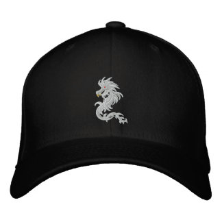 Snow dragon embroidered hat