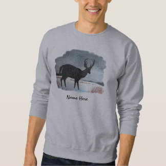 Snow Dusted Deer Art Sweatshirt