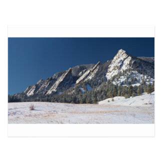 Snow Dusted Flatirons Boulder Colorado Panorama Postcard