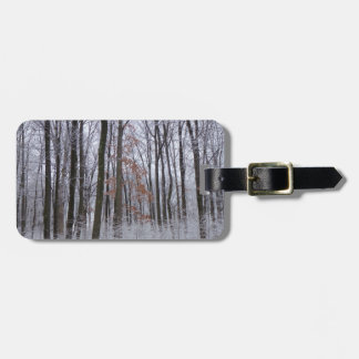 Snow Dusted Forest Winter Landscape Photography Luggage Tag