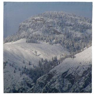 Snow dusted mountains in south Okanagan Napkin