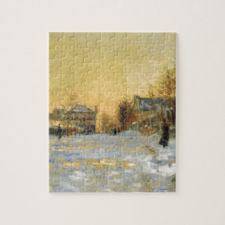 Snow Effect, The Street in Argentuil by Claude Jigsaw Puzzle