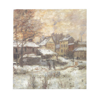 Snow Effect with Setting Sun by Claude Monet Memo Notepad
