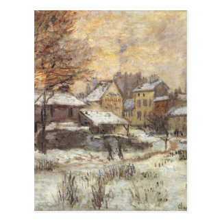 Snow Effect with Setting Sun by Claude Monet Postcard