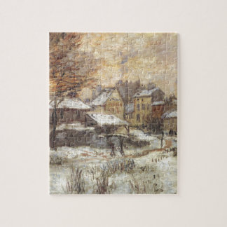 Snow Effect with Setting Sun by Claude Monet Puzzles
