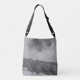 Snow_Evergreen_Mountainside Crossbody Bag