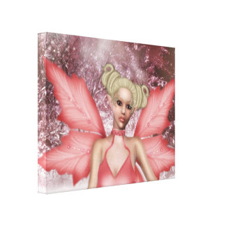 Snow Fae Stretched Canvas Prints