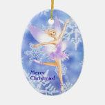 Snow Fairy Ballet Oval Ornament (customisable)