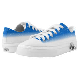 Snow Fall Blue Low Tops