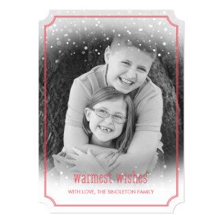 Snow Fall Warmest Wishes Holiday Photo Card 13 Cm X 18 Cm Invitation Card