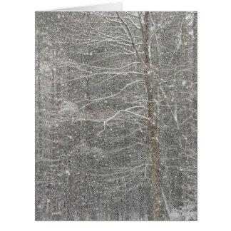 Snow Falling Big Greeting Card