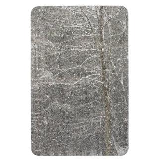 Snow Falling Rectangular Magnets