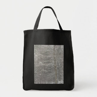 Snow Falling Grocery Tote Bag
