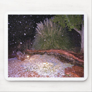 snow falling mouse pad