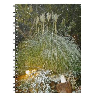 snow falling notebook