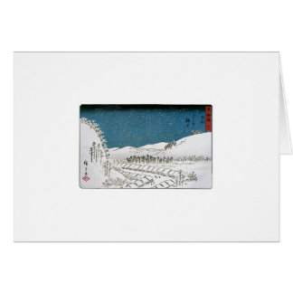 Snow Falling on a Town, Japan circa 1851-52 Card