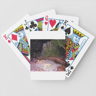 snow falling bicycle card decks