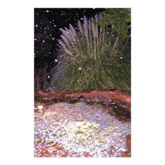 snow falling stationery paper