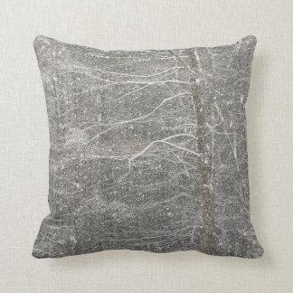 Snow Falling Throw Cushions
