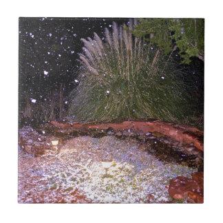 snow falling ceramic tiles