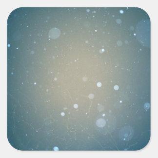 Snow Falling Winter Design Square Sticker