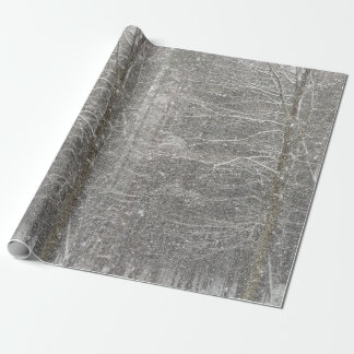 Snow Falling wrapping paper