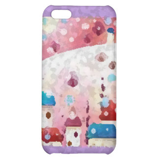 Snow falls cover for iPhone 5C