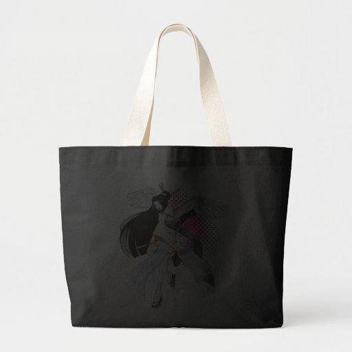 Snow & Feathers Geisha Maiko Asian Anime Manga Art Canvas Bags