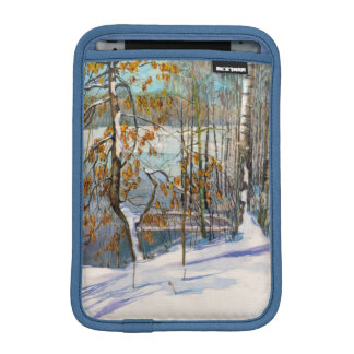 Snow fell iPad mini sleeve