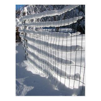 Snow Fence ~ postcard