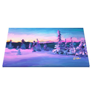 SNOW FIELDS STRETCHED CANVAS PRINT