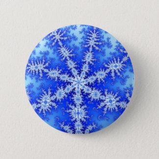 Snow Flake 6 Cm Round Badge