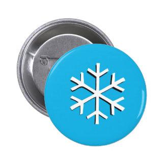 Snow flake pinback button
