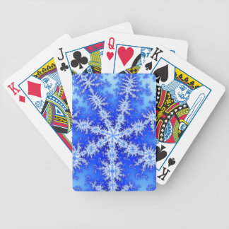 Snow Flake Bicycle Playing Cards