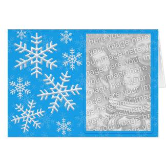 Snow Flake Cascade Custom Photo Card