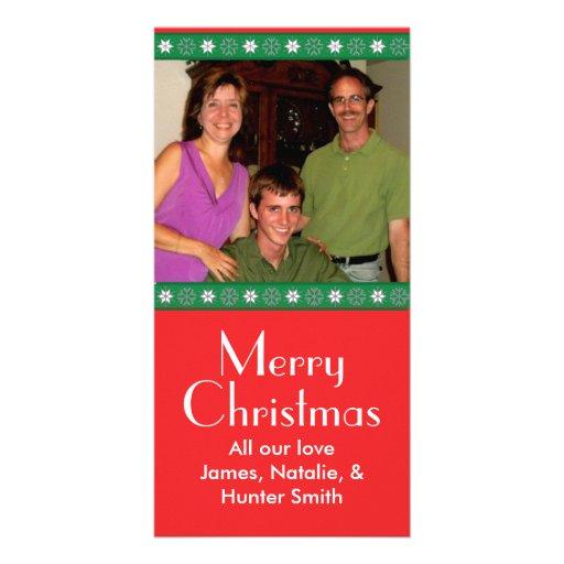 Snow Flake Christmas Photo Card