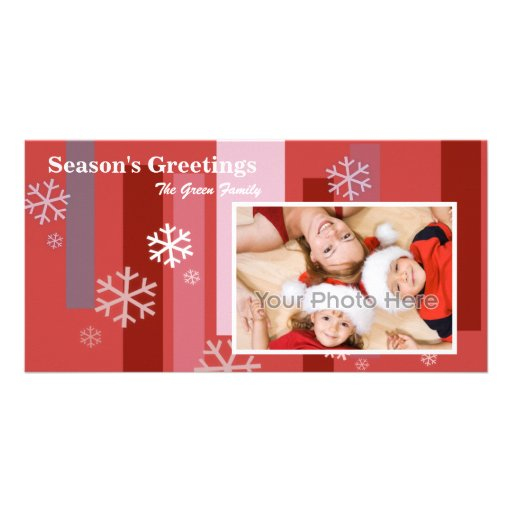 Snow Flake Christmas Photocard Personalized Photo Card