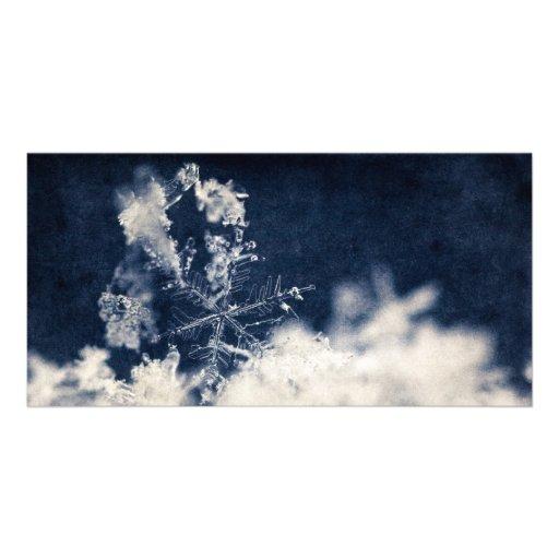 Snow Flake Custom Photo Card