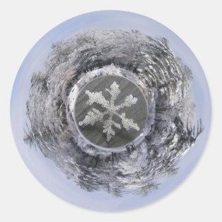 Snow Flake Planetoid ~ sticker