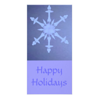 Snow Flake Star Photo Greeting Card