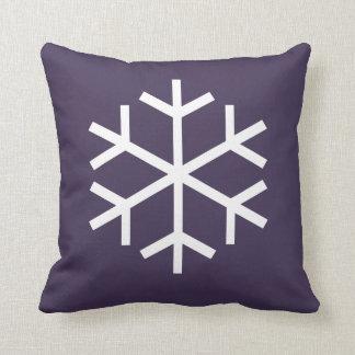 Snow Flake Throw Pillow
