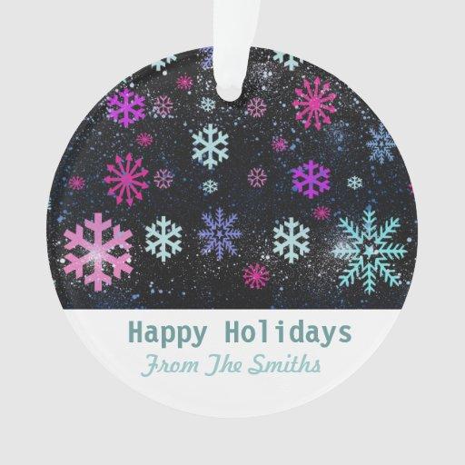 Snow Flakes and Custom Christmas Greetings