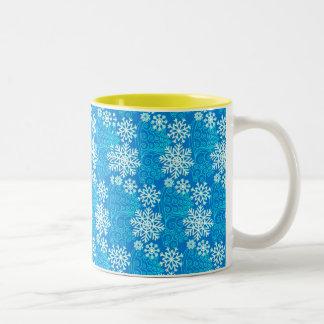 Snow Flakes Christmas Mug