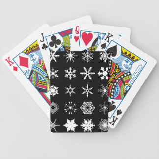 Snow Flakes Collection Bicycle Playing Cards