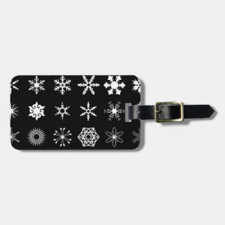 Snow Flakes Collection Luggage Tag