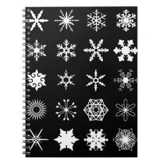 Snow Flakes Collection Spiral Notebook