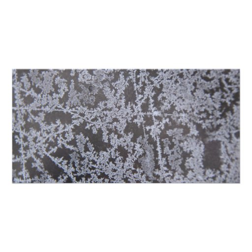 snow flakes on Glass Photo Greeting Card