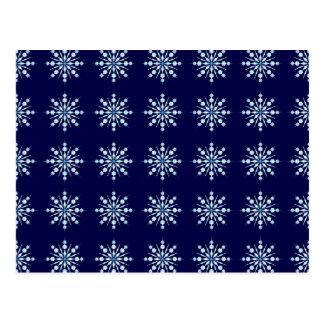 Snow flakes pattern postcard